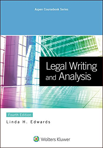 Legal Writing and Analysis  2nd 2015 edition cover