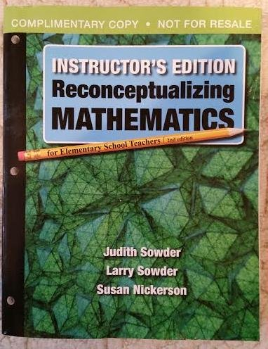 RECONCEPTUALIZING MATH.F/ELEM. N/A edition cover