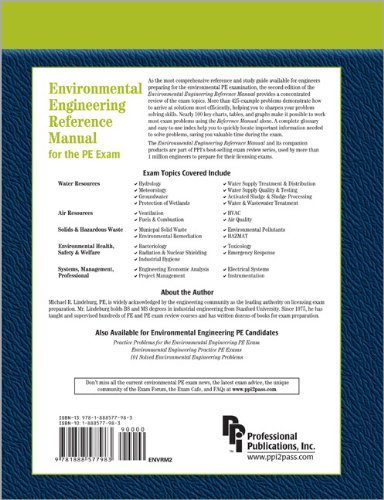 Environmental Engineering Reference Manual for the PE Exam  2nd 2003 edition cover