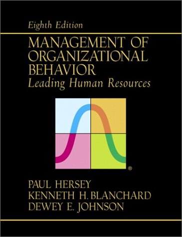 Management of Organizational Behavior Leading Human Resources 8th 2001 (Revised) edition cover