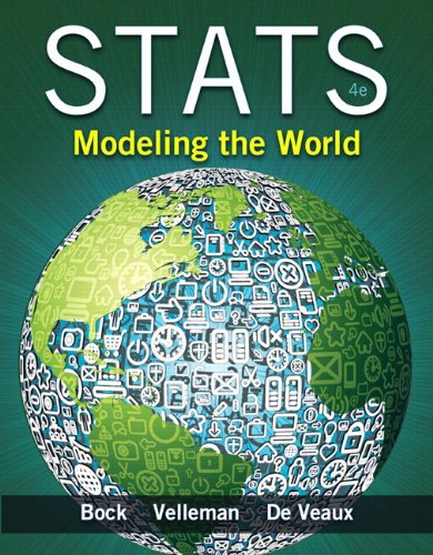 Stats Modeling the World Plus NEW MyStatLab with Pearson EText -- Access Card Package 4th 2015 edition cover