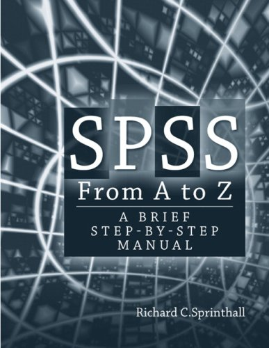 SPSS from A to Z A Brief Step-By-Step Manual  2009 edition cover