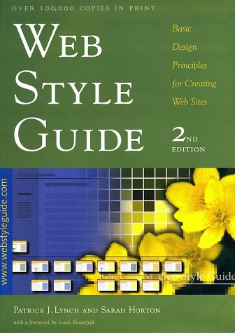 Web Style Guide Basic Design Principles for Creating Web Sites 2nd 2001 edition cover