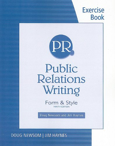 Public Relations Writing Form and Style 9th 2011 (Workbook) edition cover