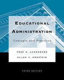 Educational Administration Concepts and Practices 3rd 2000 9780534559984 Front Cover