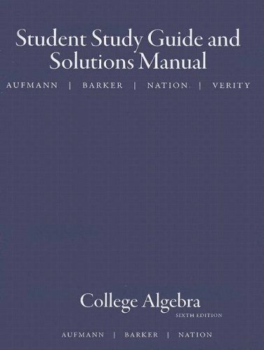 College Algebra  6th 2008 9780618824984 Front Cover