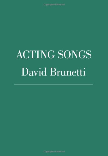 Acting Songs  N/A edition cover