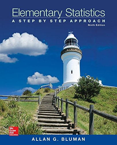Elementary Statistics: A Step By Step Approach 9th edition cover