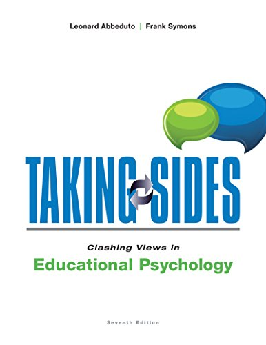 Taking Sides Clashing Views in Educational Psychology 7th 2015 edition cover