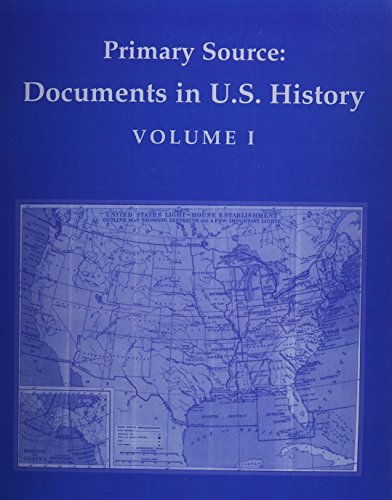 Primary Source Documents in U. S. History  2009 edition cover