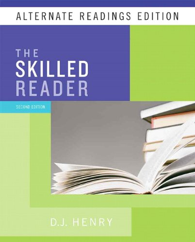 Skilled Reader, the, Alternate Reading Edition (with MyReadingLab Student Access Code Card)  2nd 2010 9780205744985 Front Cover