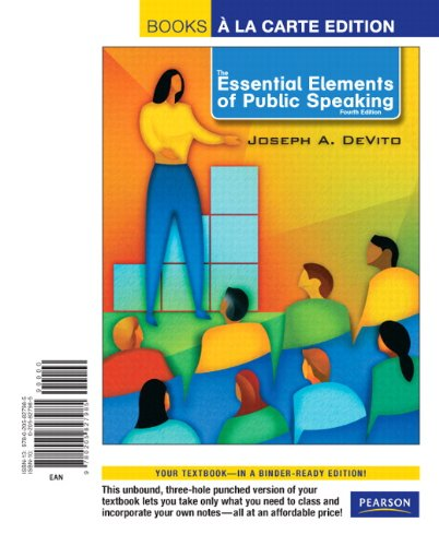 Essential Elements of Public Speaking, Books a la Carte Edition  4th 2012 edition cover