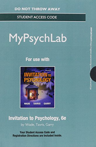 Invitation to Psychology  6th 2015 edition cover