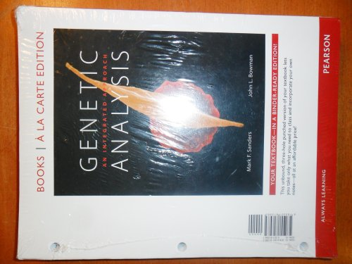 Genetic Analysis An Integrated Approach, Books a la Carte Edition  2012 edition cover