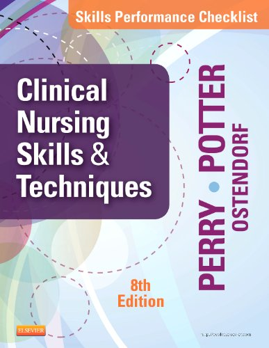 Skills Performance Checklists for Clinical Nursing Skills and Techniques  8th edition cover
