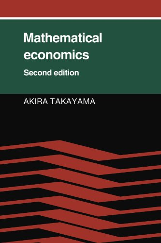 Mathematical Economics  2nd 9780521314985 Front Cover