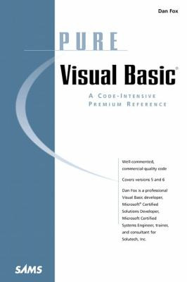 Pure Visual Basic   1999 9780672315985 Front Cover