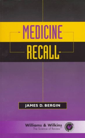 Medicine Recall  1997 9780683180985 Front Cover