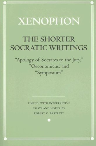 Shorter Socratic Writings Apology of Socrates to the Jury, Oeconomicus, and Symposium' N/A edition cover