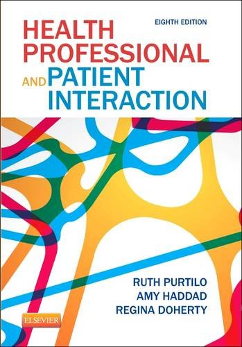 Health Professional and Patient Interaction  8th 2014 edition cover