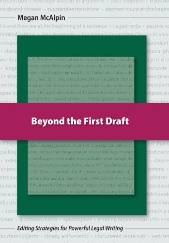 Beyond the First Draft Editing Strategies for Powerful Legal Writing N/A edition cover