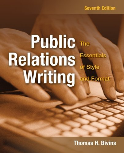 Public Relations Writing The Essentials of Style and Format 7th 2011 edition cover