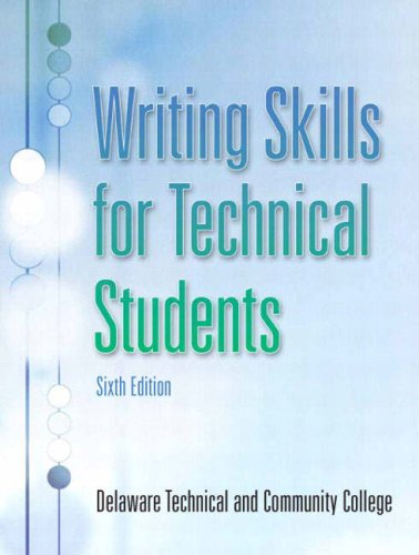 Writing Skills for Technical Students  6th 2008 edition cover