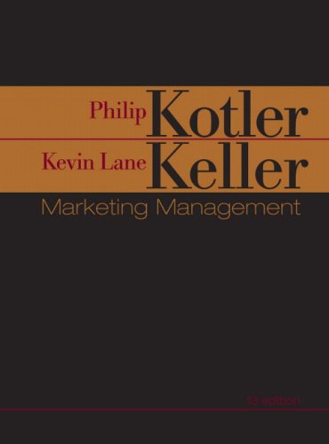 Marketing Management  13th 2009 edition cover