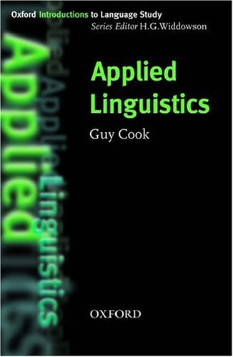 Applied Linguistics   2003 edition cover