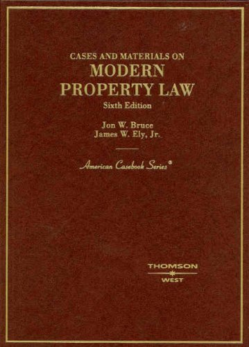 Cases and Materials on Modern Property Law  6th 2007 (Revised) edition cover