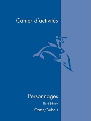 Personnages: Cahier D'Activites  2001 edition cover