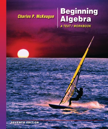 Beginning Algebra  7th 2007 (Workbook) 9780495108986 Front Cover