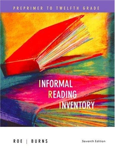 Informal Reading Inventory Preprimer to Twelfth Grade 7th 2007 edition cover