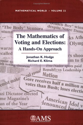 Mathematics of Voting and Elections A Hands-On Approach  2005 edition cover