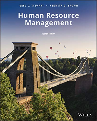 Human Resource Management  4th 2019 9781119492986 Front Cover