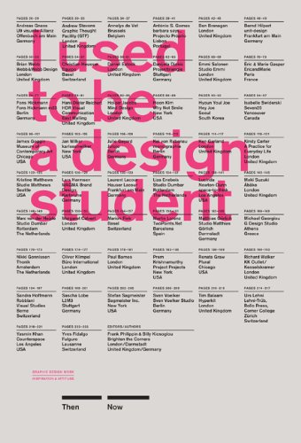 I Used to Be a Design Student 50 Graphic Designers Then and Now  2013 edition cover