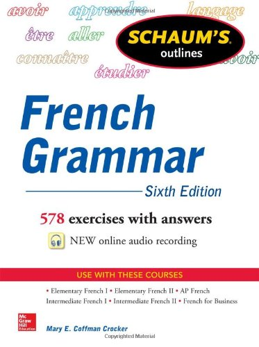 Schaum's Outline of French Grammar  6th 2014 edition cover