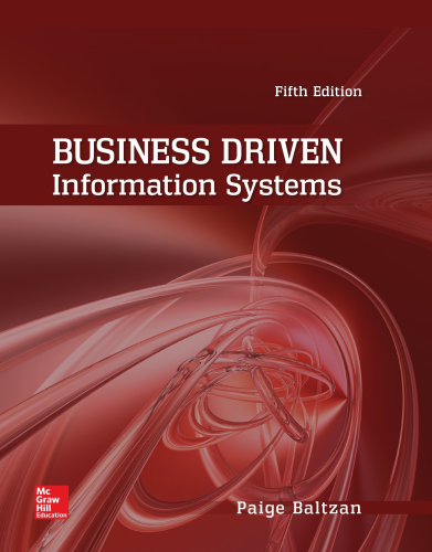 Business Driven Information Systems 5th 2015 9780073402987 Front Cover