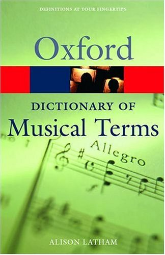 Oxford Dictionary of Musical Terms   2004 edition cover
