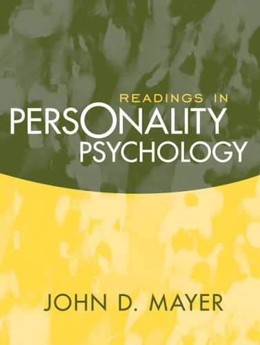 Readings in Personality Psychology   2007 9780205430987 Front Cover
