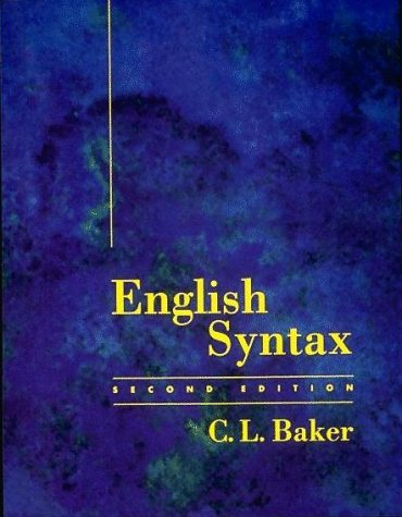 English Syntax  2nd 1995 edition cover