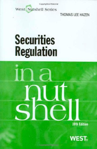 Securities Regulation in a Nutshell, 10th  10th 2009 (Revised) edition cover