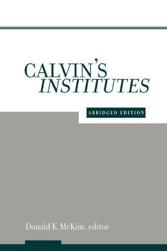 Calvin's Institutes   2001 (Abridged) edition cover