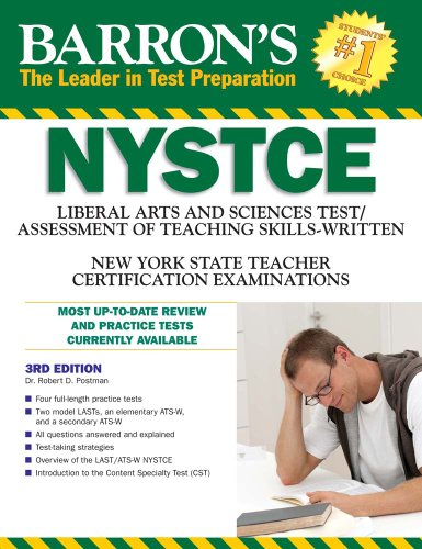 Barron's NYSTCE  3rd 2010 (Revised) edition cover
