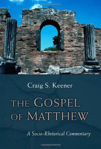 Gospel of Matthew A Socio-Rhetorical Commentary  2009 edition cover