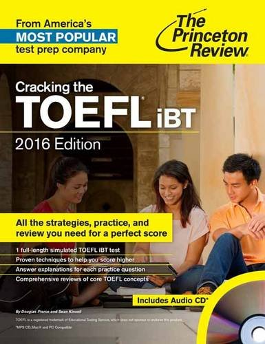 Cracking the TOEFL IBT 2016   2015 edition cover