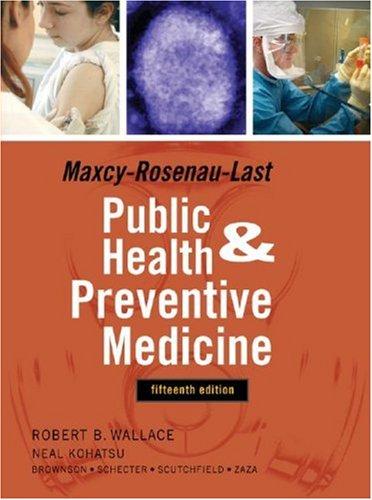 Public Health and Preventive Medicine  15th 2008 edition cover
