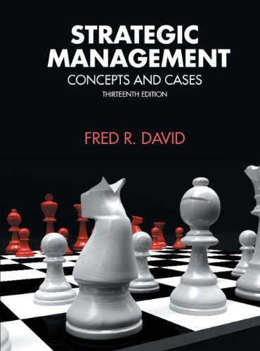 Strategic Management  13th 2011 edition cover