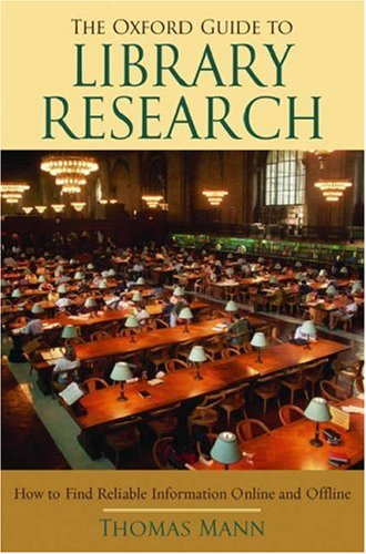 Oxford Guide to Library Research  3rd 2005 (Revised) edition cover