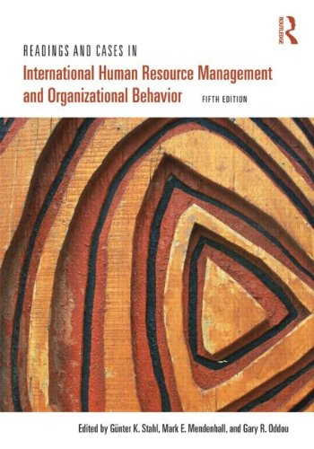 Readings and Cases in International Human Resource Management and Organizational Behavior  5th 2001 (Revised) edition cover